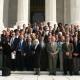 Sócios da UDV em frente a Suprema Corte dos Estados Unidos após audiência (Washington – EUA, 1º de novembro de 2005)