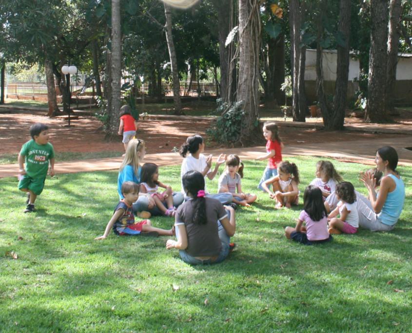 Crianças participando da Orientação Espiritual na Sede Geral