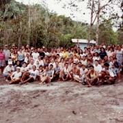 Irmandade do N. Caupuri na finalização do primeiro mutirão para a construção do Templo do Pré-Núcleo Águas Claras, ano 2000 | DMC/Núcleo Águas Claras